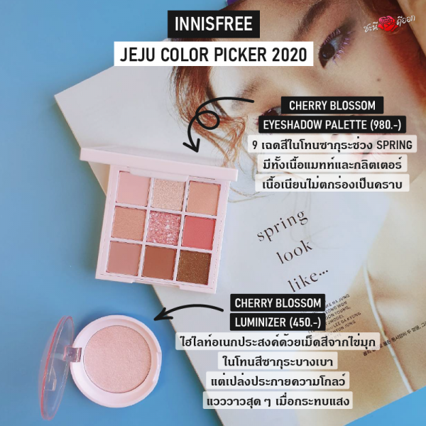 Innisfree Jeju Color Picker 2020 Eyeshadow Palette and Luminizer