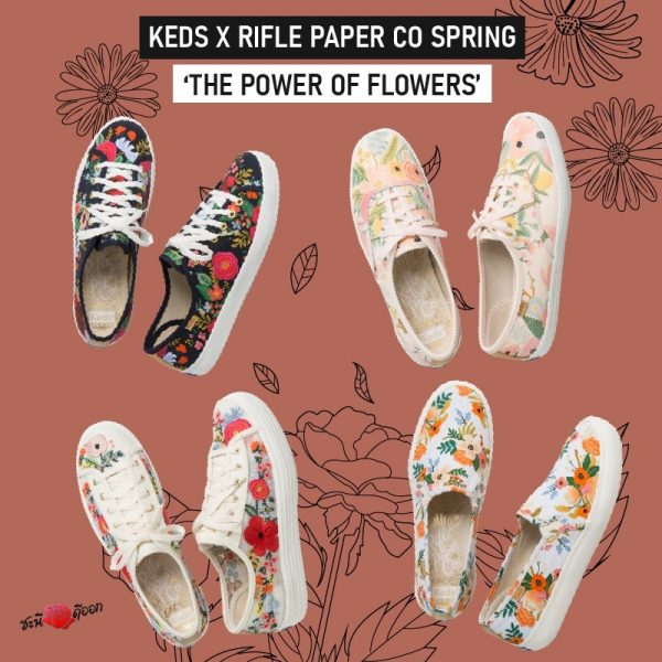 "keds x rifle paper co spring ""THE POWER OF FLOWER"" Shoes All product"