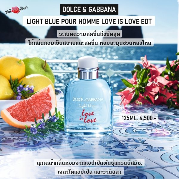 DOLCE & GABBANA Light blue pour homme love is love edt perfume