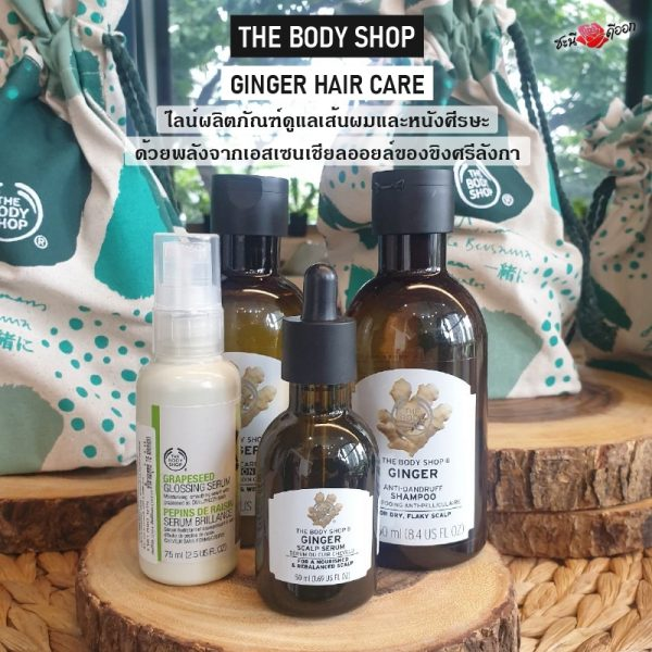 THE BODY SHOP GINGER HAIR CARE 3 item